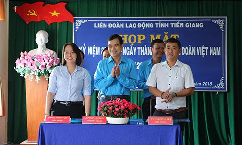 LĐLĐ tỉnh,Công ty TNHH Duy Qúy và Công ty CP Du Lịch Tiền Giang ký kết thỏa thuận hợp tác chương trình phúc lợi cho đoàn viên Công đoàn