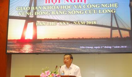 Phát biểu của Bộ trưởng Chu Ngọc Anh.