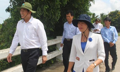 Lãnh đạo UBND tỉnh khảo sát tại rạch Bà Ngọt.