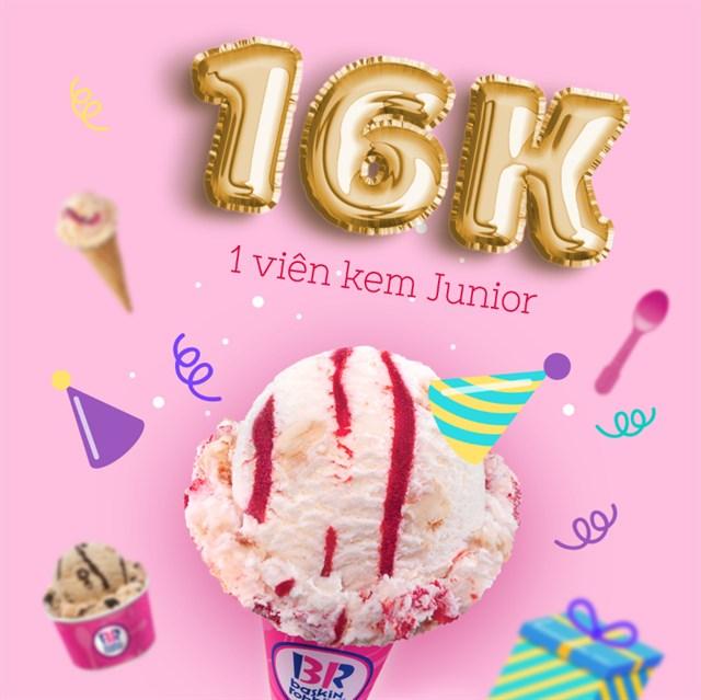 """Tốc chiến """"ăn sập"""" kem Baskin Robbins ưu đãi chỉ 16K VIÊN trên toàn quốc"""