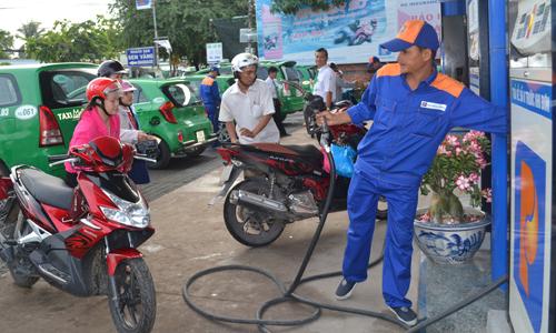 Cửa hàng kinh doanh xăng dầu của Petrolimex Tiền Giang.