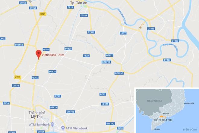 Vu cuop ngan hang o Tien Giang dien ra trong hon 2 phut hinh anh 3