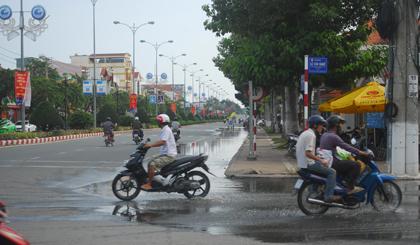 Tại đường Hùng Vương.