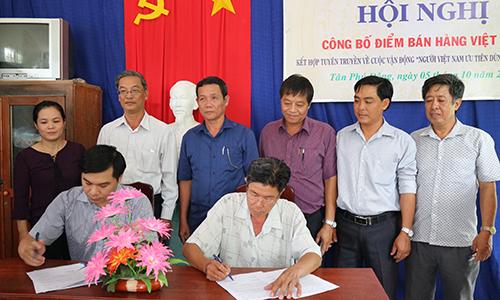 Sở Công Thương Tiền Giang ký kết Biên bản bàn giao cho chủ hộ kinh doanh