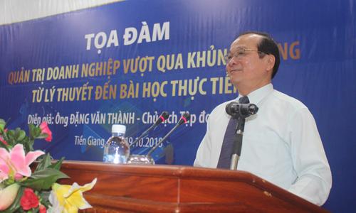 Phó Chủ tịch UBND tỉnh Trần Thanh Đức phát biểu tại buổi tọa đàm.