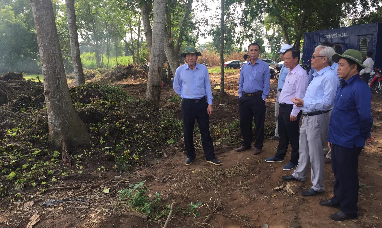 Chủ tịch UBND tỉnh khảo sát tiến độ Dự án Bệnh viện Đa khoa tỉnh Tiền Giang.