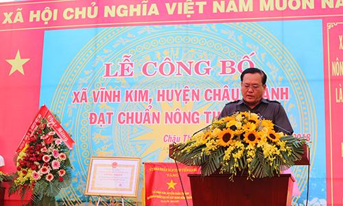 Vĩnh Kim ra mắt xã nông thôn mới