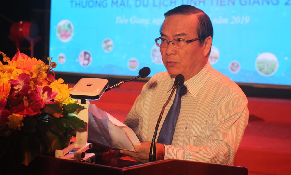 Phó Chủ tịch UBND tỉnh Phạm Anh Tuấn phát biểu tại Lễ khai mạc.