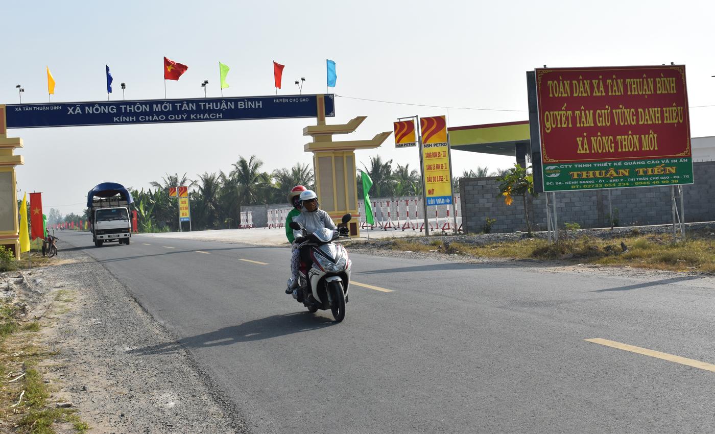 Bộ mặt nông thôn huyện Chợ Gạo ngày càng thay đổi