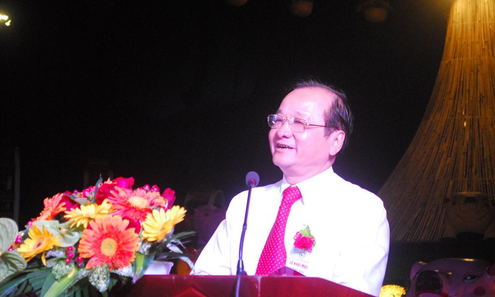 Phó Chủ tịch UBND tỉnh Tiền Giang Trần Thanh Đức phát biểu tại Lễ Khai mạc đường hoa xuân Kỷ Hợi TP. Mỹ Tho 2019.