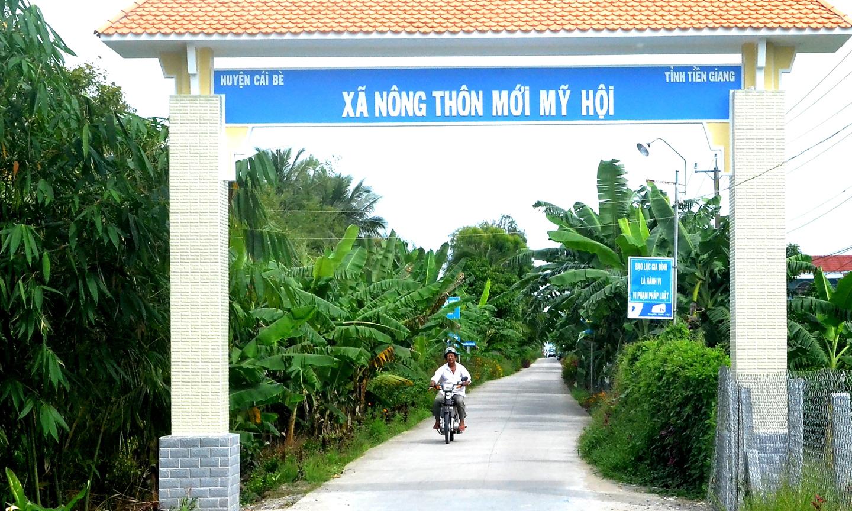 Huyện Cái Bè có 10 xã đạt chuẩn NTM, chiếm 41,67% tổng số xã trong huyện.