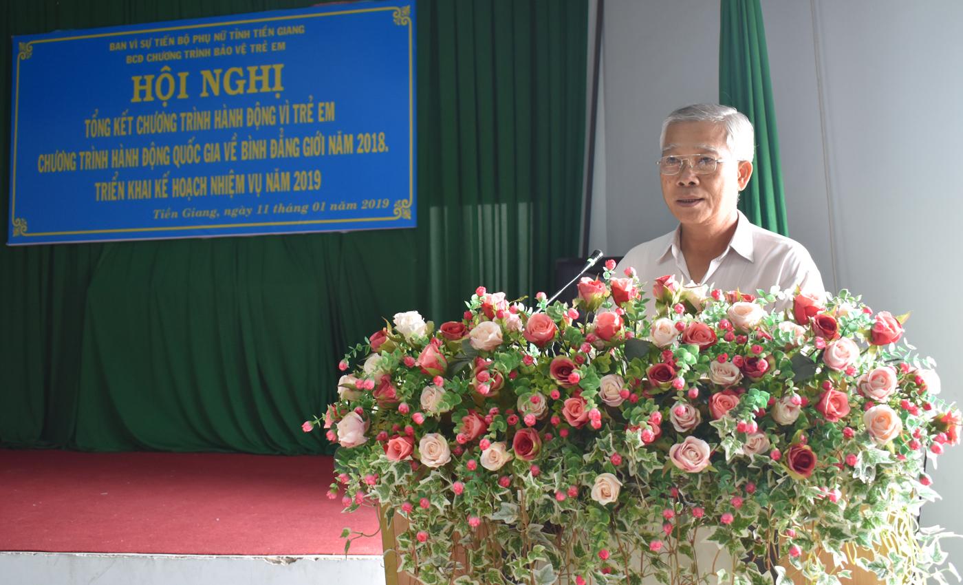 Đồng chí Phạm Thương Tý, Phó Giám đốc Sở LĐTB&XH triển khai các chương trình hành động