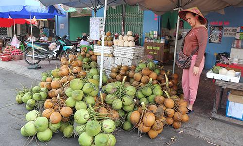 Vào mùa nắng nóng: Dừa tươi, cam sành tăng giá