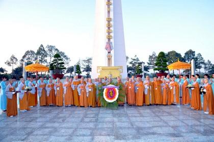 Ban tổ chức đại lGiang viếng nghĩa trang liệt sĩ tỉnh