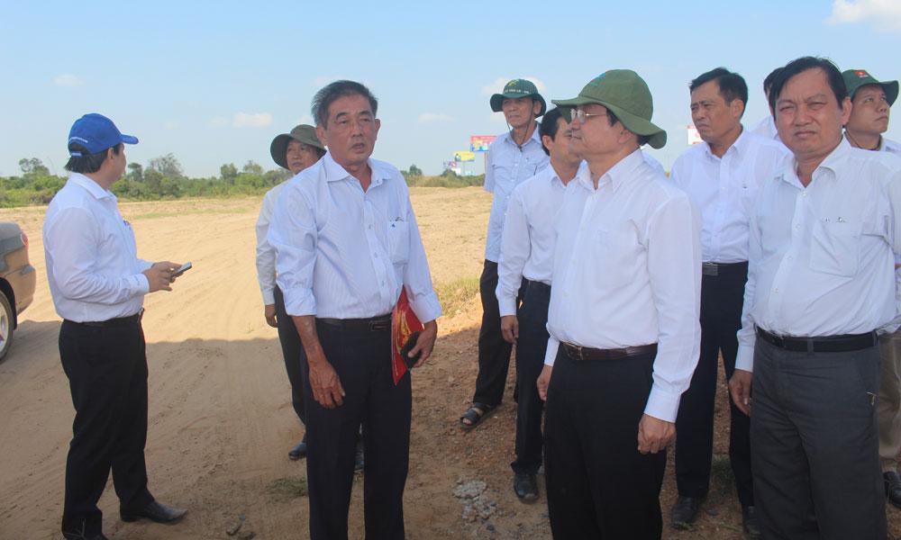 Lãnh đạo tỉnh kiểm tra công tác GPMB tại huyện Châu Thành.