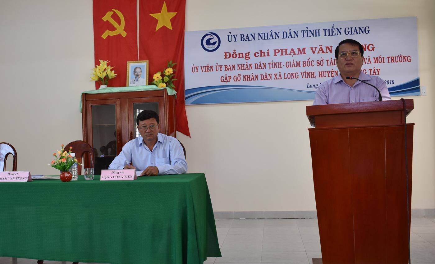 Giám đốc Sở Tài nguyên và Môi trường Phạm Văn Trọng phát biểu