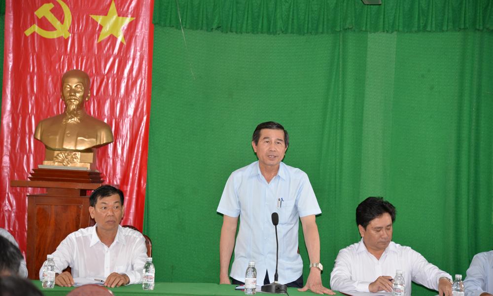 Kiểm tra tại xã Long Bình Điền (huyện Chợ Gạo).