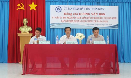Giám đốc Giám đốc Sở Khoa học và Công nghệ Dương Văn Bon chủ trì buổi gặp gỡ.