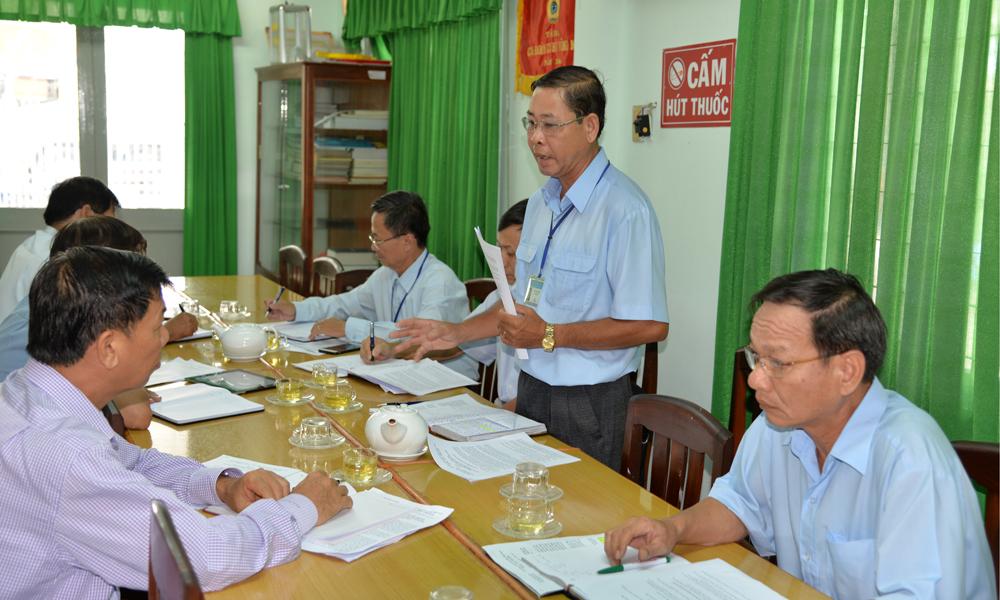 Ban Quản lý Cảng cá Tiền Giang báo cáo với Ban Giám đốc Sở NN&PTNT.