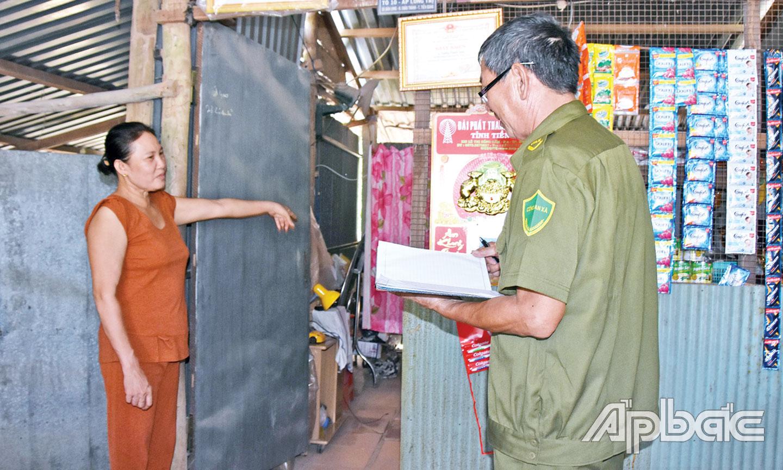 Hiện trường vụ trộm vàng tại xã Bàn Long, huyện Châu Thành. Ảnh: TRỌNG TÍN