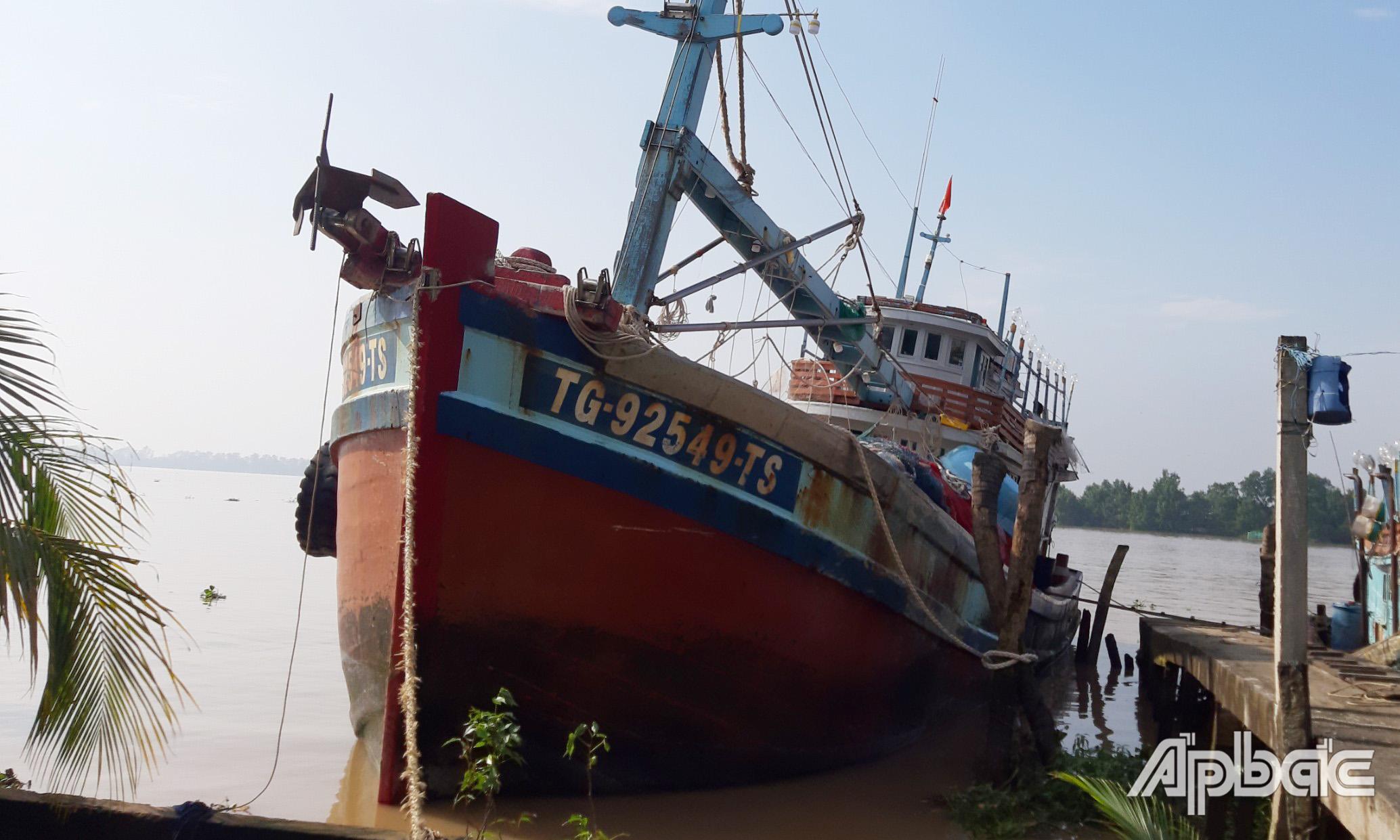 Chiếc tàu xảy ra vụ án mạng.