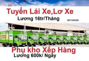 Mỹ Tho Tiền Giang tuyển dụng tài xế,lơ xe giao hàng siêu thị