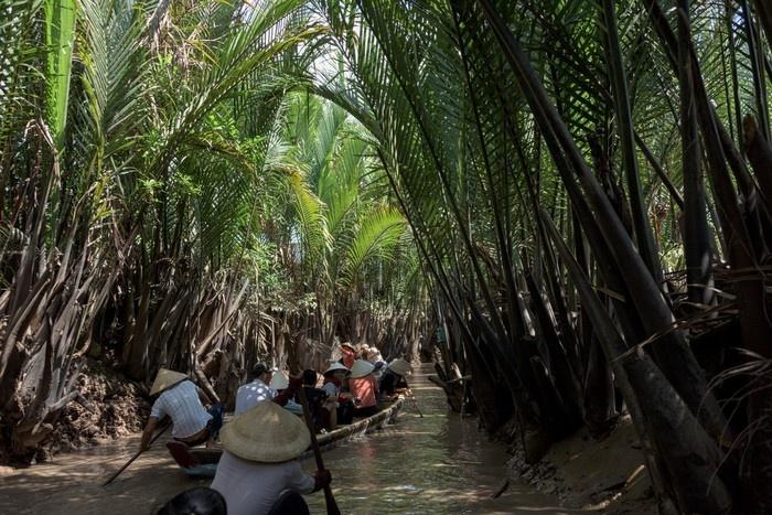 Thử một lần ngồi trên chiếc xuồng nhỏ và trôi giữa dòng nước Tiền Giang