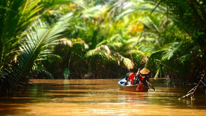 Cù lao Thới Sơn-những con thuyền nhỏ len lỏi giữa vùng sông nước Nam Bộ