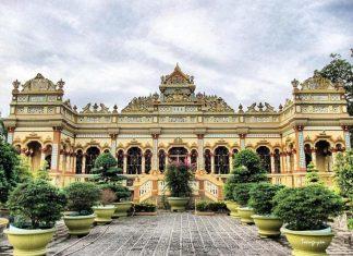 chùa Vĩnh Tràng, chua vinh trang, Vĩnh Tràng, vinh trang, ngôi chùa nổi tiếng miền Tây Nam Bộ, ngoi chua noi tieng mien tay nam bo, chùa miền tây, chua mien tay
