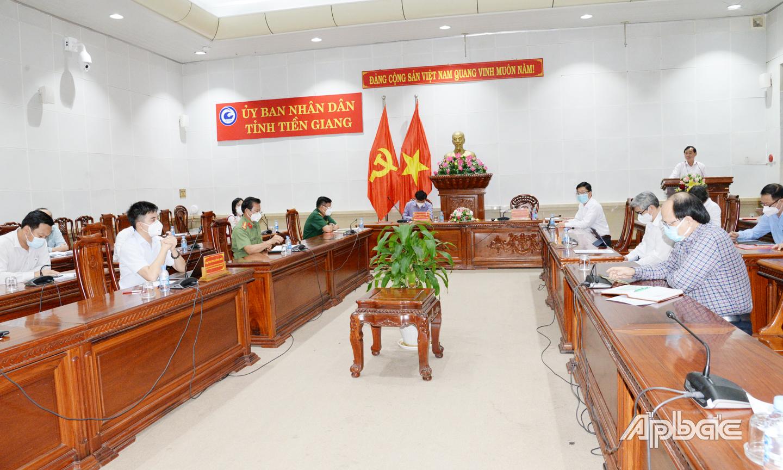 Quang cảnh cuộc họp tại điểm cầu chính