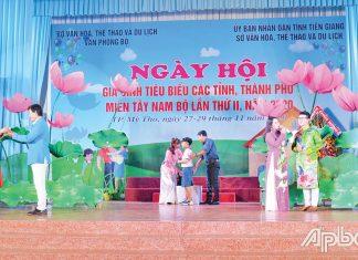 Ngày hội  Gia đình  tiêu biểu  các tỉnh,  thành phố Tây Nam bộ năm 2020 được tổ chức tại Tiền Giang.