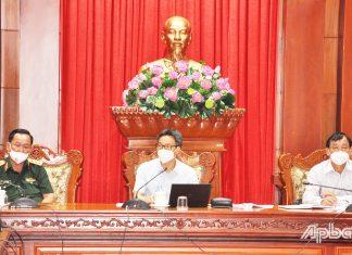 Phó Thủ tướng Chính phủ Vũ Đức Đam phát biểu tại buổi làm việc.