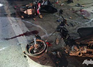 Tiền Giang: Va chạm giữa 2 xe máy làm 3 người nguy kịch, 2 người qua đời